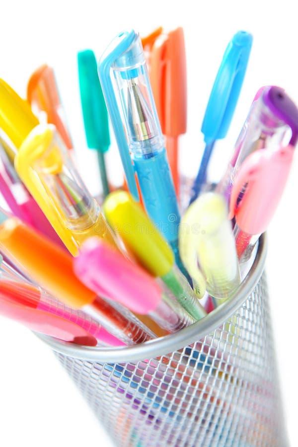 Crayons lecteurs colorés photo stock