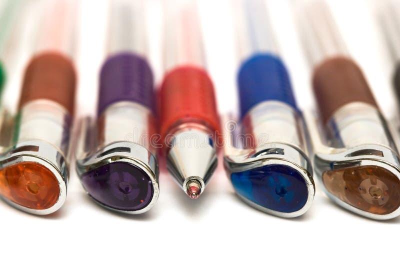 crayons lecteurs proches vers le haut image stock