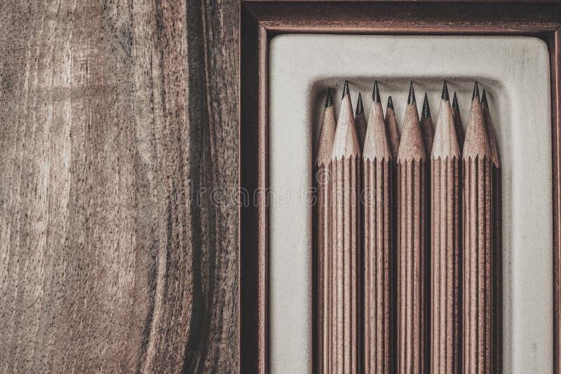 Crayons luxueux de dessin de fusain image stock