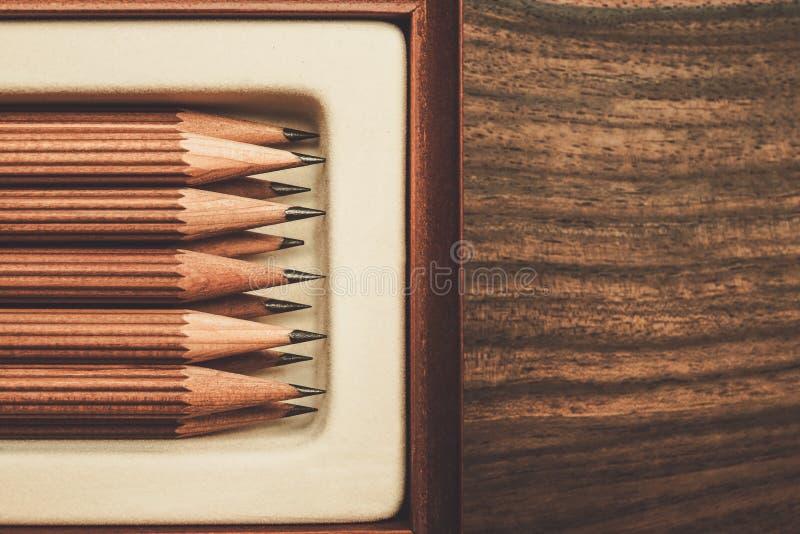 Crayons luxueux de dessin de fusain photographie stock