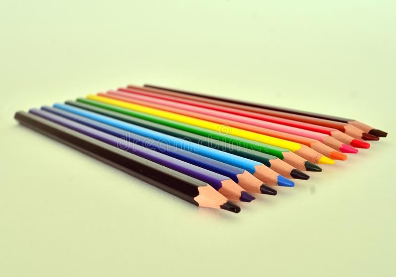 Crayons multicolores photo stock