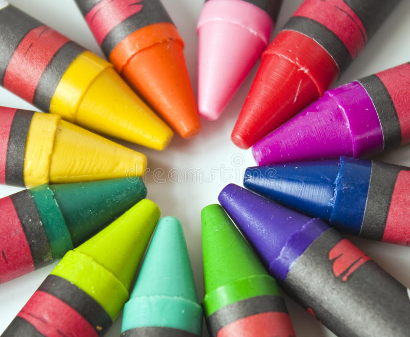 Download Crayons in Multicolors stock photo. Image of colors, group - 14108598