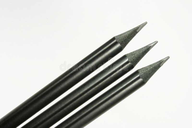 Crayons noirs image libre de droits