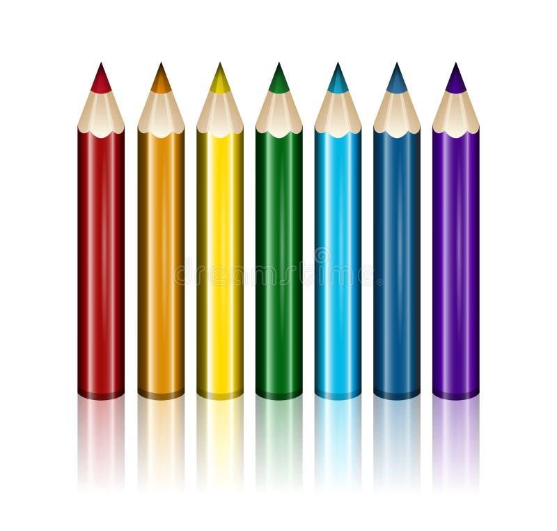 Crayons olored par ¡ de Ð photographie stock libre de droits