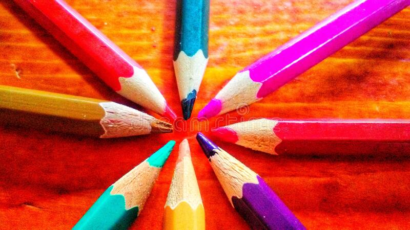 Crayons. A photo with crayons royalty free stock photos