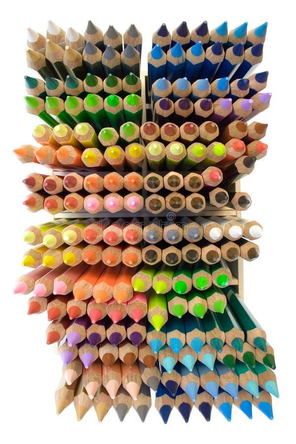 Crayons (première vue) photographie stock libre de droits
