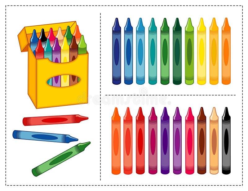 Crayons réglés illustration stock