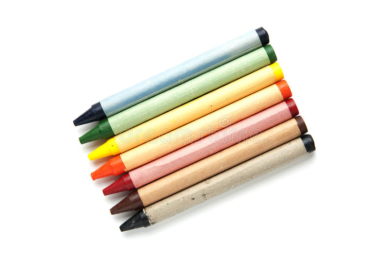 crayons rainbox fotografering för bildbyråer