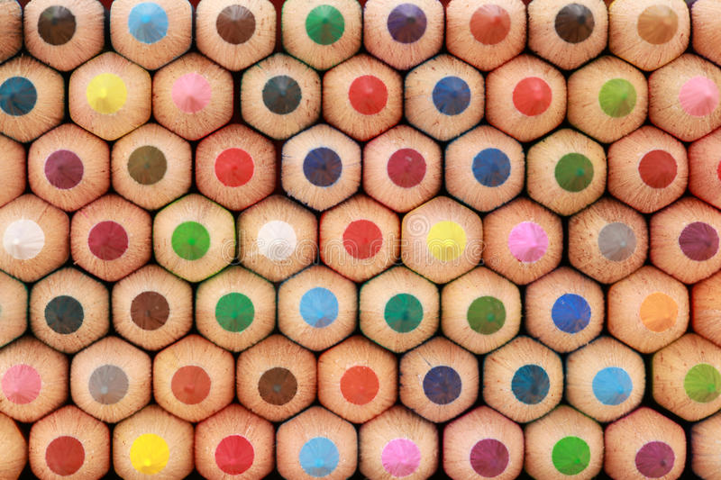 Crayons in a stack royalty free stock images