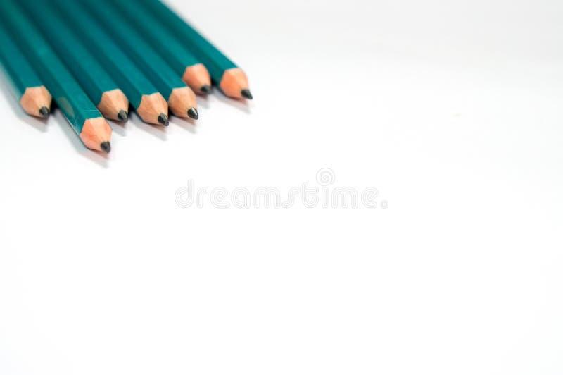 Crayons sur le blanc photos stock
