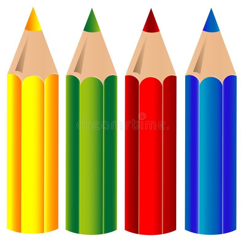crayons vektorn vektor illustrationer
