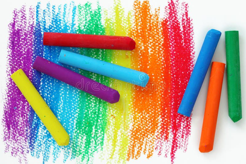 crayonsoljepastell arkivbild