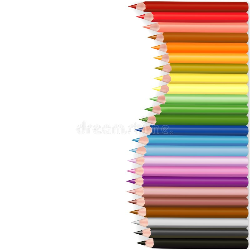 crayonswave royaltyfri illustrationer