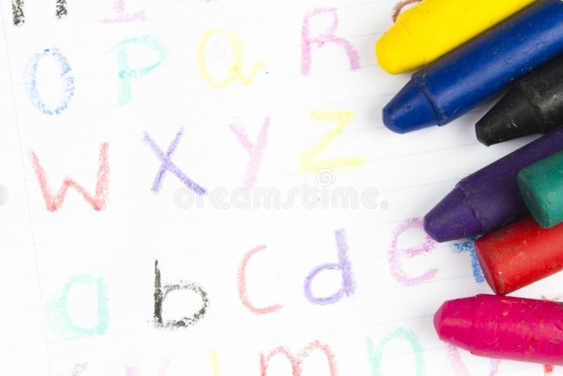 crayonswax arkivbild