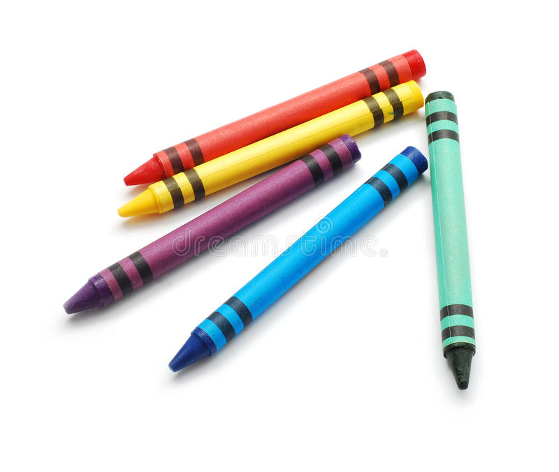 crayonswax royaltyfri foto