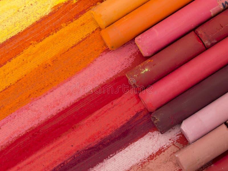 Crayouns artísticos coloridos foto de archivo