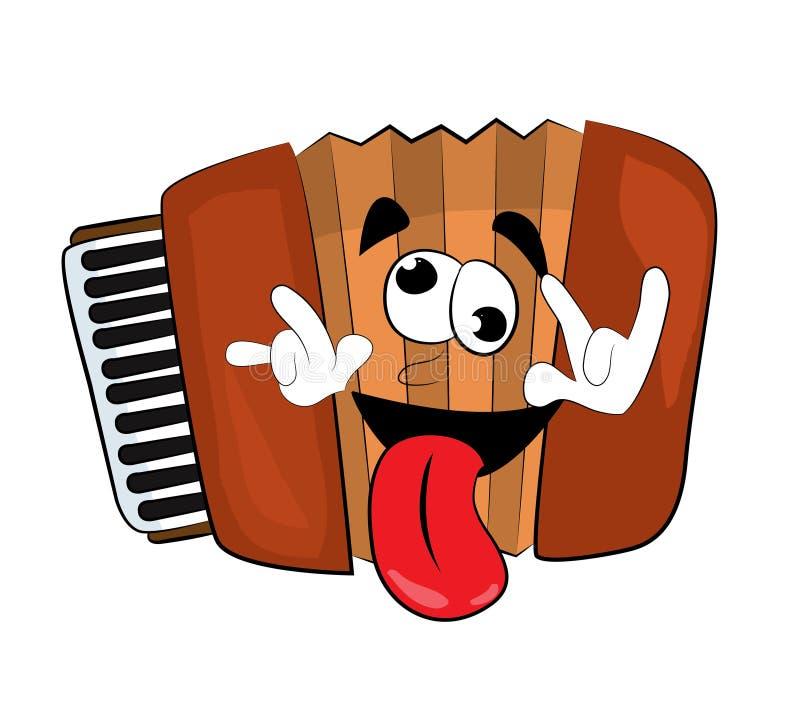 Crazy Accordion illustration. Vector illustration of crazy accordion illustration stock illustration