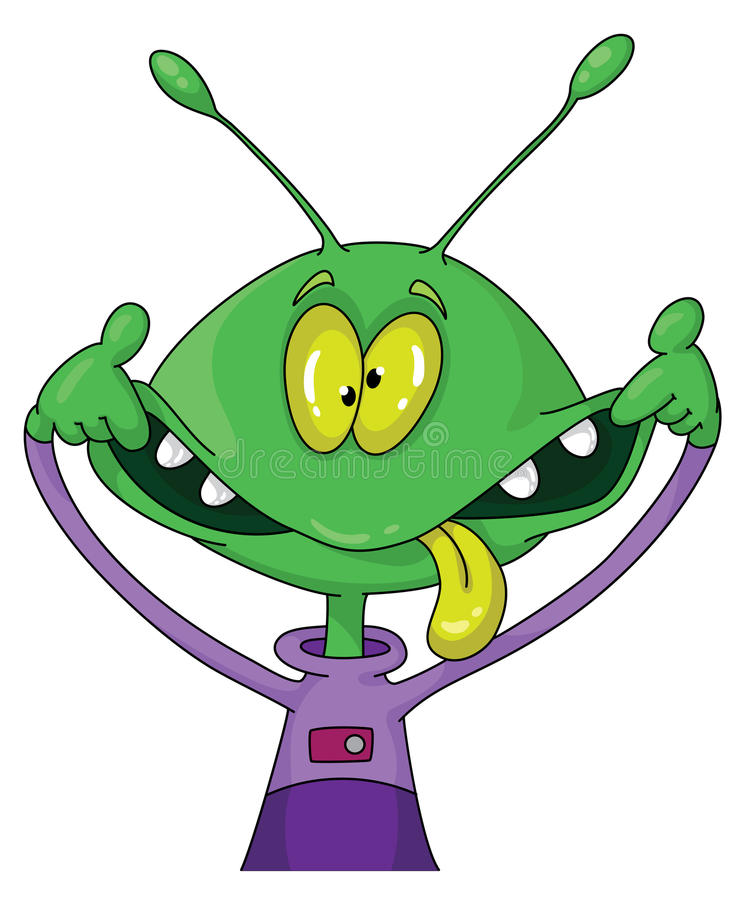 Free Crazy Alien Royalty Free Stock Image - 16877586