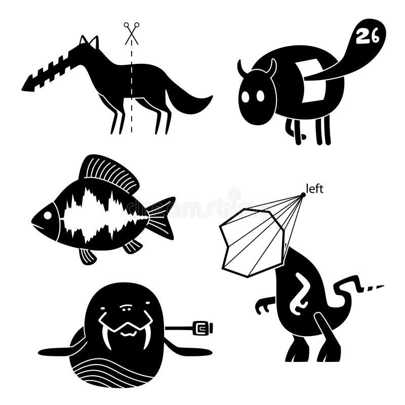 Download Crazy animals stock vector. Image of illustration, imagination - 19833465