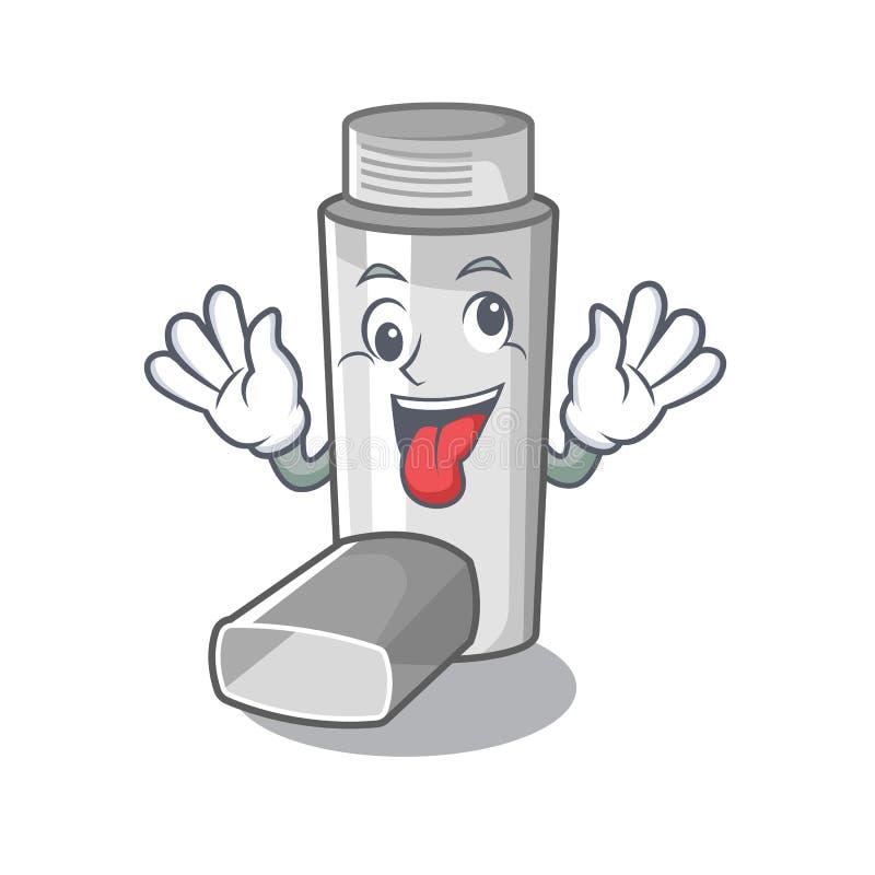 Crazy asthma inhaler in the character bag. Vector illustration vector illustration