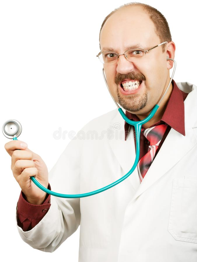 Download Crazy bald-headed Doctor stock photo. Image of glasses - 24673878