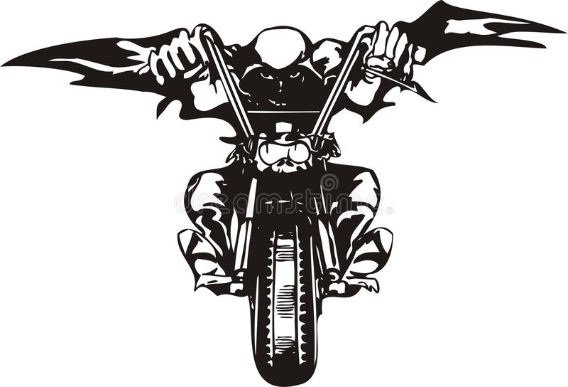 Crazy Biker. royalty free stock photo
