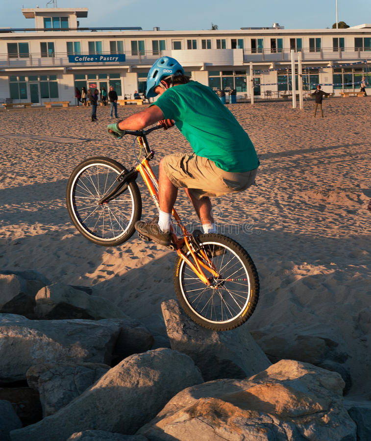 Download Crazy biker rock hopping editorial photo. Image of hopping - 39613031