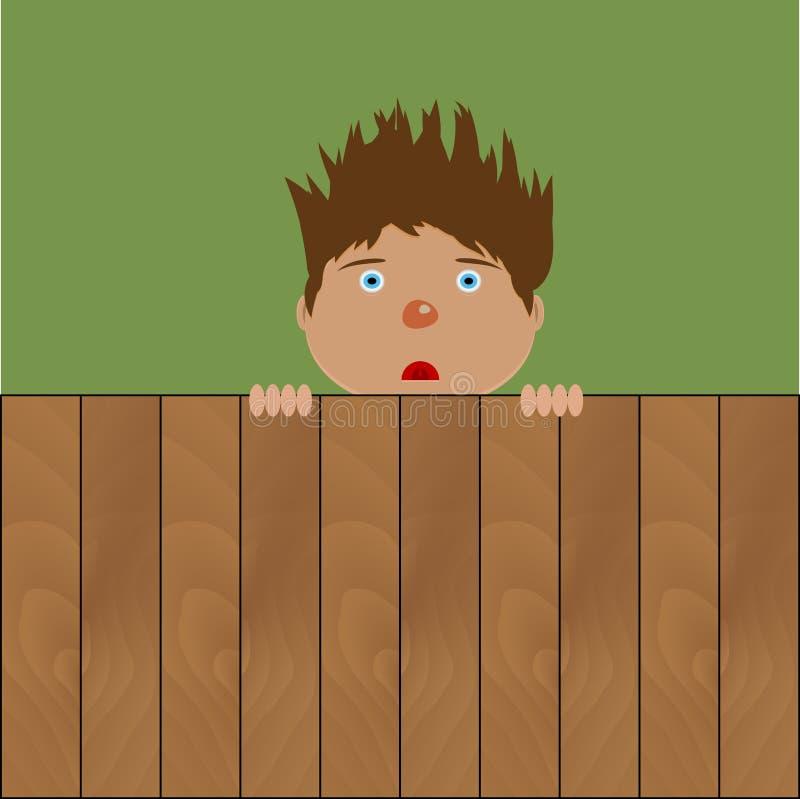 Free Crazy Boy Behind Fence Stock Photos - 81317143