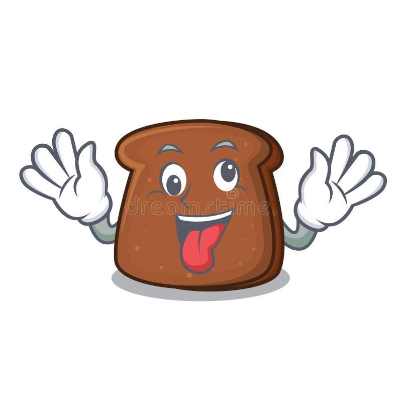 Free Crazy Brown Bread Mascot Cartoon Royalty Free Stock Photo - 117616235