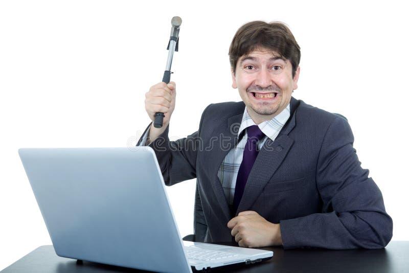 Crazy business man stock image