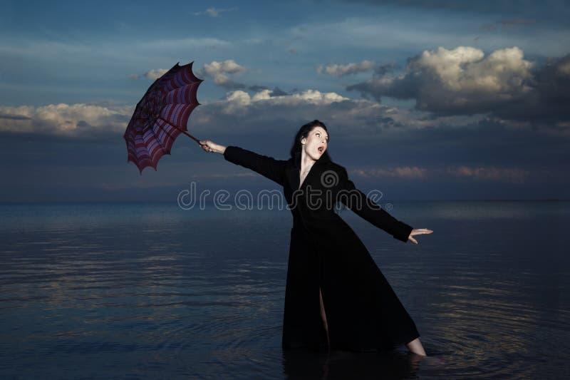 Crazy businesswoman stock photography