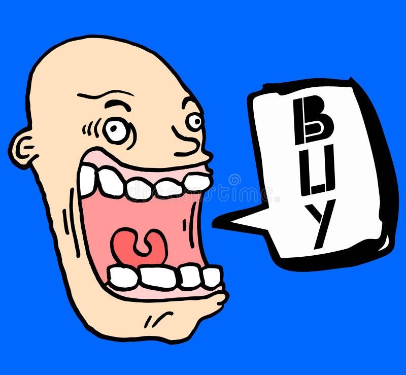 Download Crazy buy stock illustration. Illustration of bald, sell - 22574801