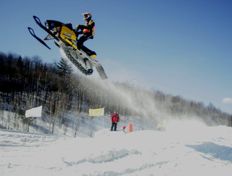Those crazy canucks. Taken at elliot lake ontario snowcross event royalty free stock photo