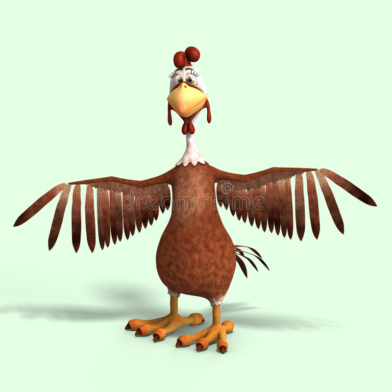 Download Crazy cartoon chicken stock illustration. Image of salute - 8317083
