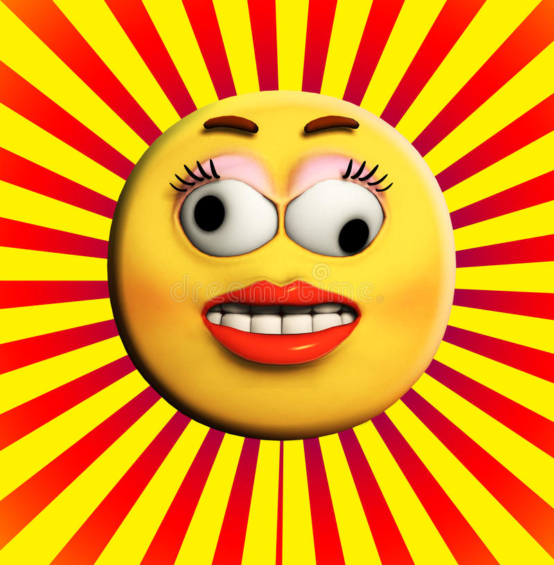Download Crazy Cartoon Face stock illustration. Image of kooky - 15268059