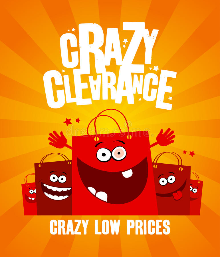 Crazy clearance banner stock illustration
