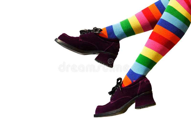 Crazy Clown Feet stock photography