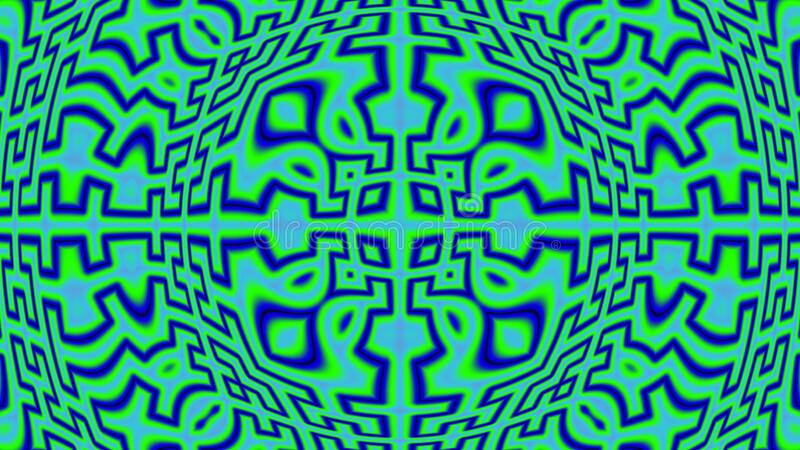 About to blow. Crazy colourful widescreen fractal with curvy effect and bulging in the centre, obviously about to blow vector illustration