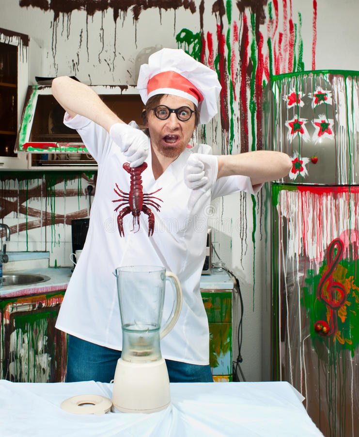 Download Crazy cook stock image. Image of bizarre, male, occupation - 30032561