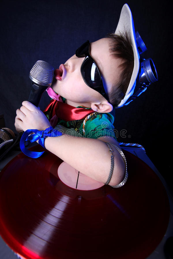 Download Crazy cool kid DJ stock image. Image of party, handsome - 9781051