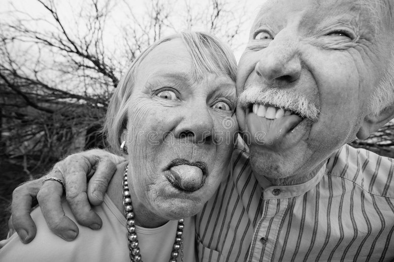Download Crazy Couple Sticking Out Tongues Stock Image - Image of mouth, portrait: 9157321