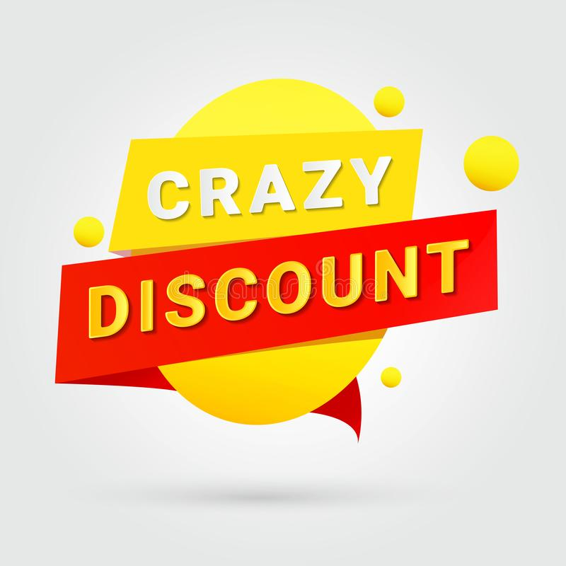 Crazy discount, design for any purposes royalty free illustration