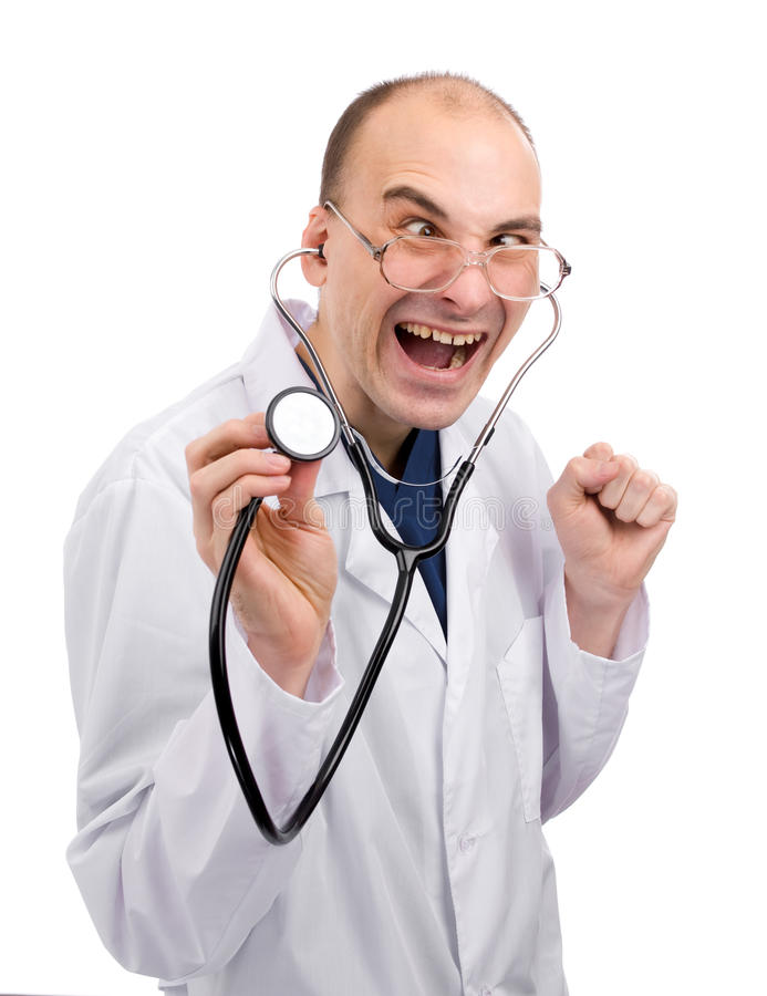 Download Crazy doctor stock image. Image of laugh, excited, humor - 12924009