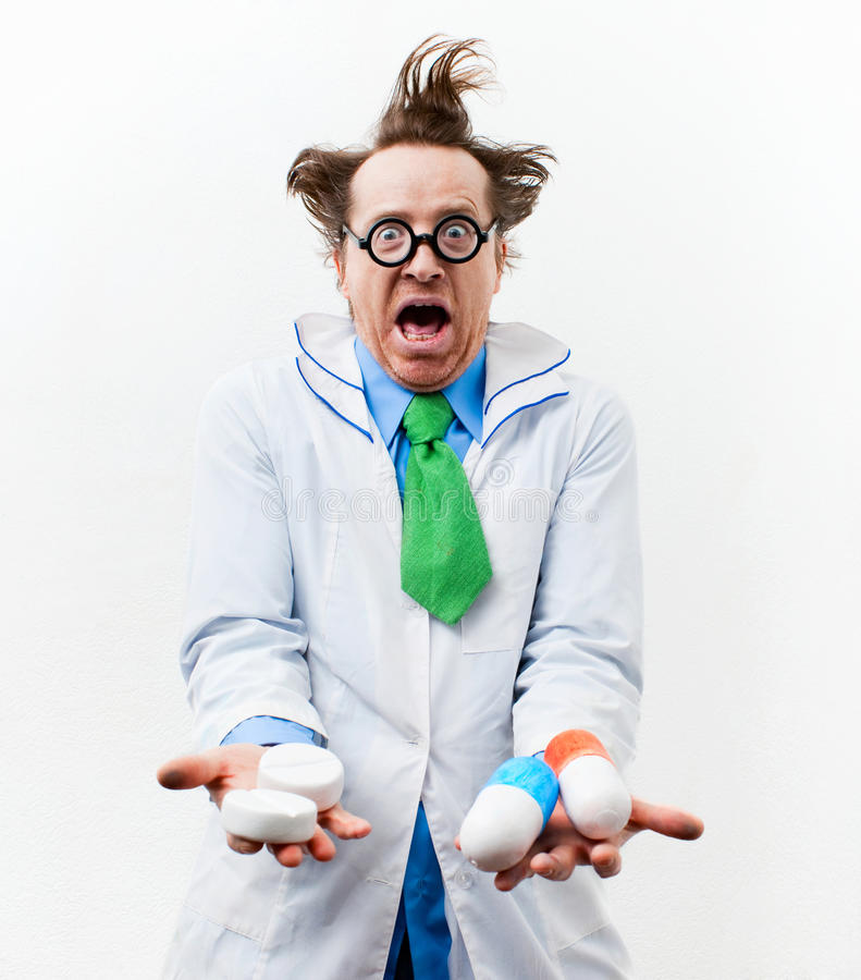 Download Crazy doctor stock photo. Image of lifestyle, funny, emotion - 29333566