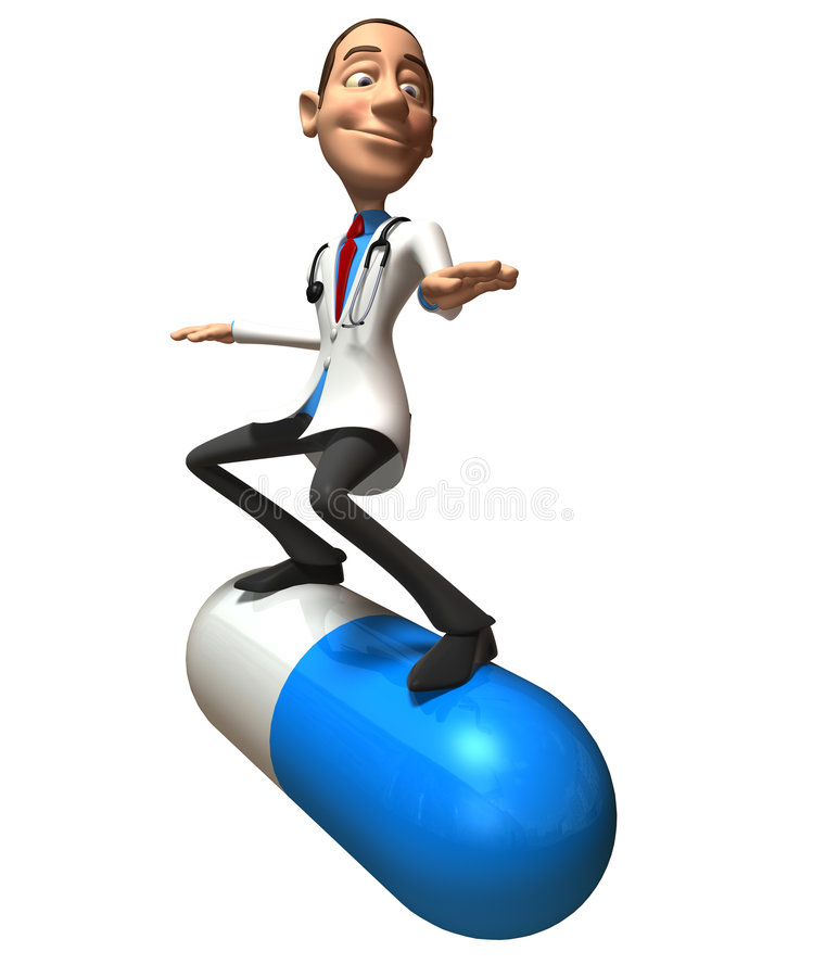 Crazy doctor stock illustration