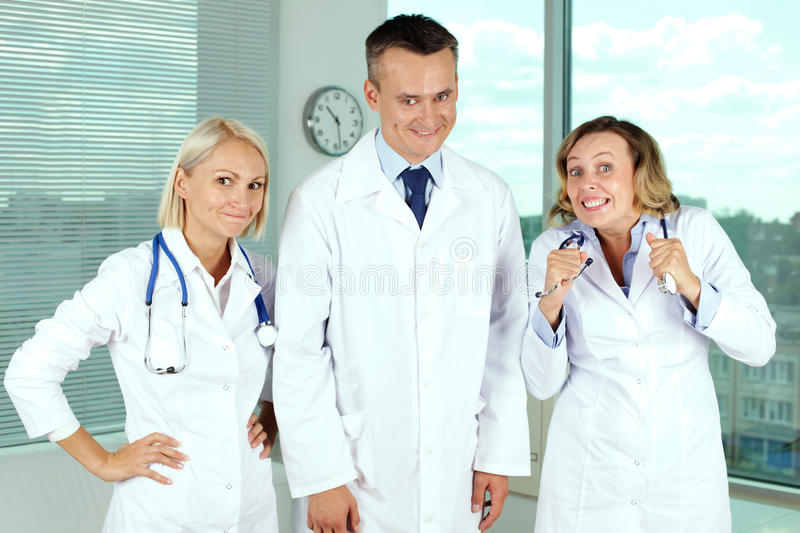 Crazy doctors stock photos