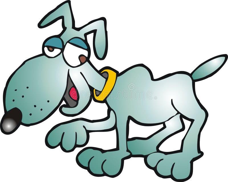 Crazy dog royalty free illustration
