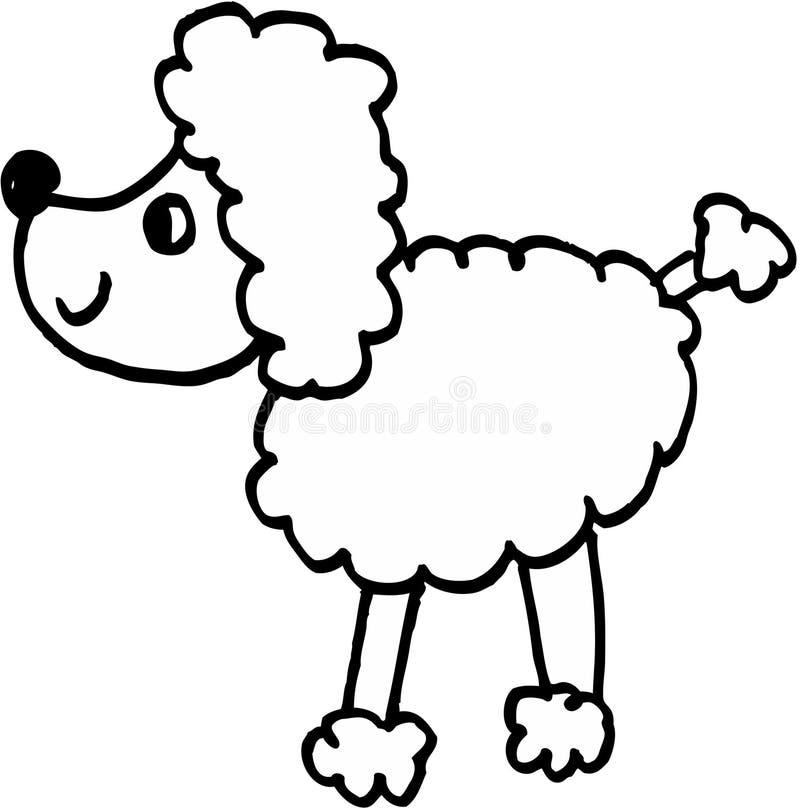 Crazy dog stock illustration