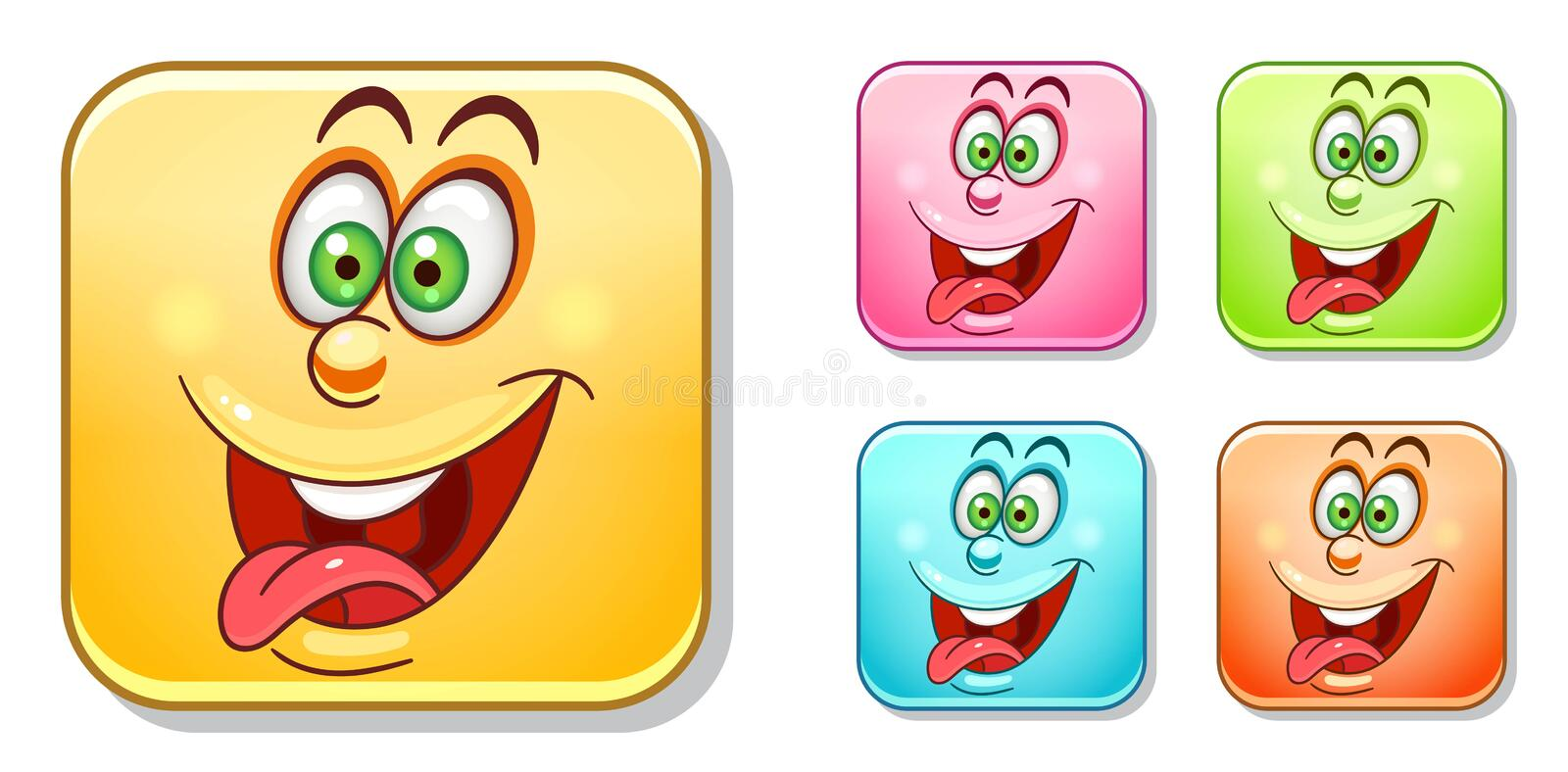 Crazy Emoticons Collection royalty free stock photography