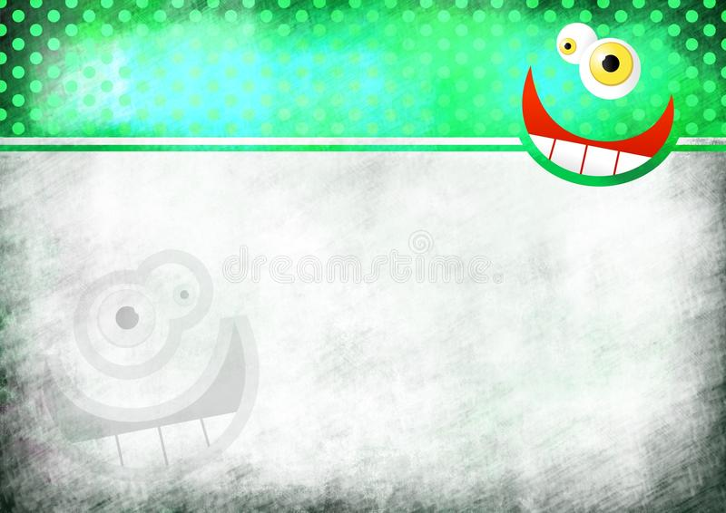 Crazy Face Note Paper vector illustration